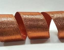 copper ribbon copper wired ribbon etsy