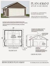 1 Car Garage Plans Garage Plans Blog Behm Design Garage Plan Examples Plan 360 0