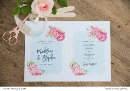 make your own wedding programs make your own wedding program fan diys the pretty
