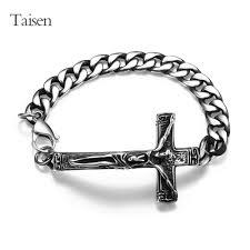 cross bracelet jewelry images Buy high quality stainless steel bracelets men jpg