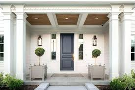 Traditional Exterior Doors Luxury Home Front Doors Portico Blue Front Door Transitional