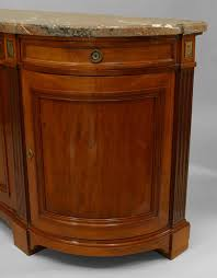 fine 19th century french marble top walnut buffet cabinet for sale