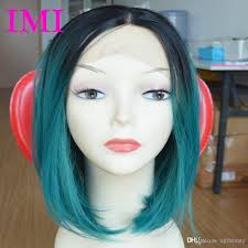 cheap fashion style straight short cut bob wigs with baby hair