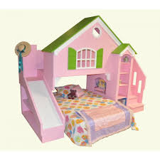 Plans For Loft Beds With Stairs by Tanglewood Design Dollhouse Bed Plans With Optional Slide And