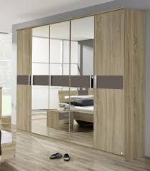 armoire moderne chambre armoire adulte contemporaine 5 portes chêne sonoma gris