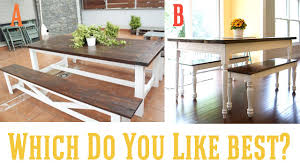 murphy table and benches diy farmhouse table and bench honeybear lane inside with plans 6