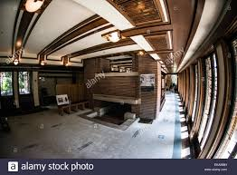 frederick c robie house chicago ill living area stock photo