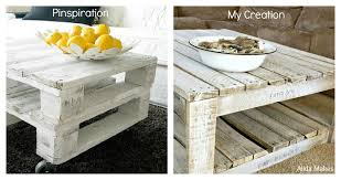 Coffee Table Out Of Pallets by Diy Pallet Coffe Table With White Wash Paint Instructions