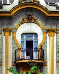 Art Deco Balcony by A Facade Of Dorćol Dositejeva Street Belgrade Serbia Arabic