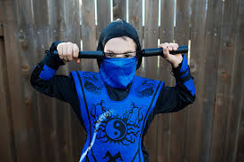 Ninja Halloween Costume Boys Portrait Project Week 40
