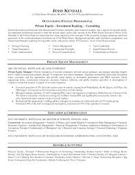 Investment Banking Resume Template Sample Resume Private Banking Augustais