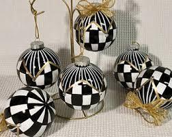 black white ornament etsy