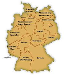 map germany and map of german states