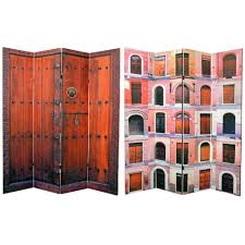4 panel room divider amazon com oriental furniture 6 ft tall double sided doors