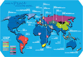 World Language Map by Words For U0027peace U0027 Around The World Oxfordwords Blog