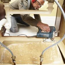 how to make a sink base cabinet how to replace a sink base cabinet floor diy family handyman