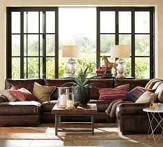 Pottery Barn Delivery Phone Number Turner Roll Arm Leather 4 Piece Chaise Sectional Pottery Barn