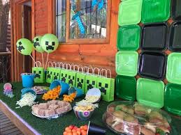 minecraft birthday party minecraft birthday party theme