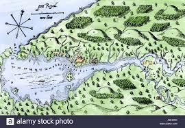 Map Of Nova Scotia Champlain Map Of His Settlement At Port Royal Now Annapolis Royal