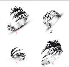 gothic jewelry rings images Punk rock 316l stainless steel mens biker rings vintage gothic jpg