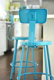 bar stool blue metal bar stools with back light blue breakfast