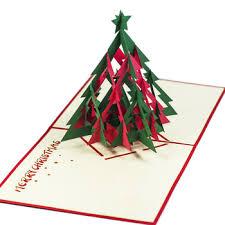 handmade 3d card for christmas 2016 mc021 noel tree 3 pop up card