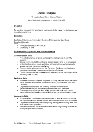 Sample Resume For Housewife Returning To Work by David Richard Hodgins Resume