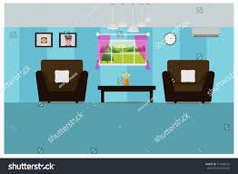 home living room interior design minimalist stock vector 715486162