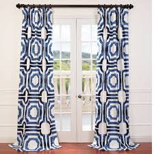 Pattern Drapes Curtains Half Price Drapes Murray Geometric Semi Opaque Rod Pocket Single
