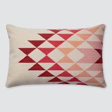 geometric lumbar pillow handmade in peru the citizenry