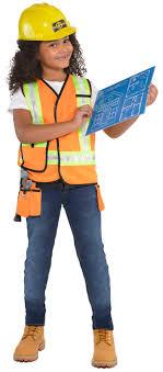 construction worker costume builder kit kids fancy dress construction worker boys