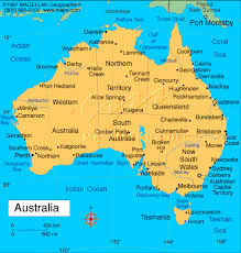map of australia with cities and states map of australia showing major cities major tourist