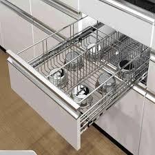 modular kitchen sliding drawers modular kitchen drawers space