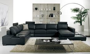 sectional living room furniture t35 modern black leather sectional living room furniture