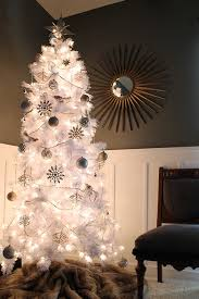white tree with lights how to decorate a white christmas tree treetopia blog