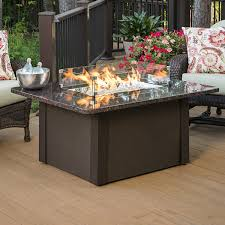 grandstone fire pit table brown woodlanddirect com outdoor