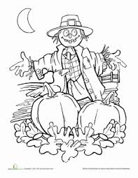 autumn scarecrow worksheet education