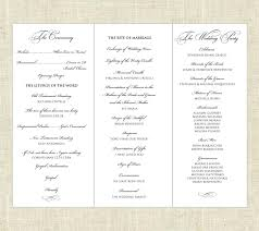 tri fold wedding programs tri fold printable wedding program 45 00 via etsy weddings