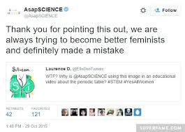 Asapscience Periodic Table Lyrics Asapscience Apologizes To Feminists Takes Down Video Superfame