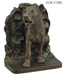 lion bookends vintage hardware lighting lion bookends by bradley hubbard