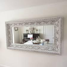 shop white shabby chic mirror on wanelo