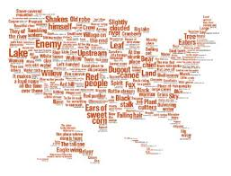 map usa place map of the united states made up of american place names