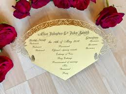 where to get wedding programs printed beauty and the beast inspired wedding program fan custom