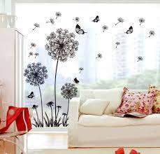 Aliexpress Home Decor Aliexpress Com Buy Diy Flying Dandelion Flower Butterfly Wall