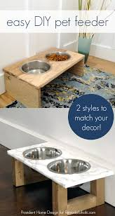 remodelaholic how to build a pet feeder choose rustic or