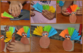 thanksgiving crafts for paper roll turkey play box