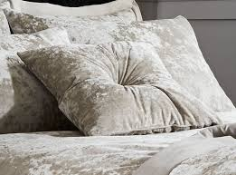 catherine lansfield crushed velvet bedding collection duvet cover