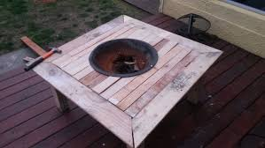 homemade fire pit table outdoor fire pit on a table 8 steps with pictures