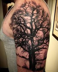 50 stylish tree tattoos on shoulder