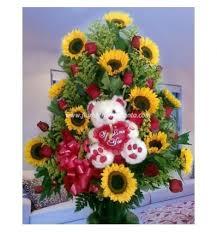 teddy sunflowers sunflowers and teddy floristería agapanto